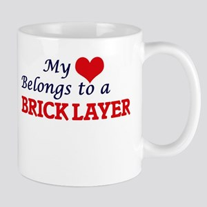 My heart belongs to a Brick Layer Mugs