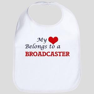 My heart belongs to a Broadcaster Bib