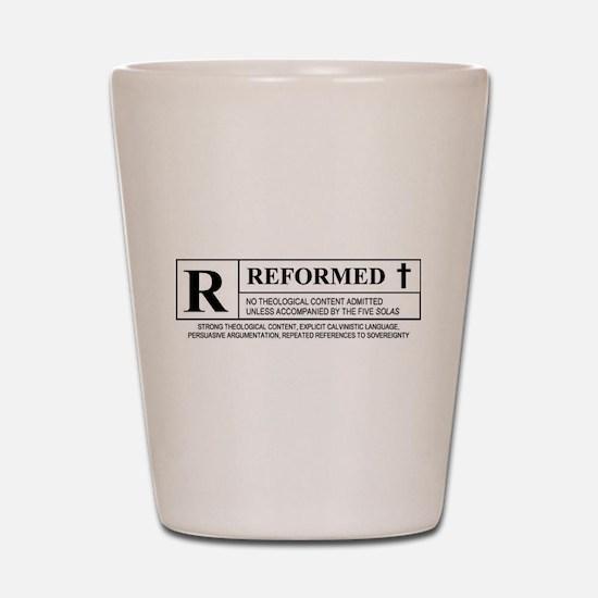 R for Reformed Shot Glass