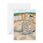 Transcendental Fossilization Greeting Card
