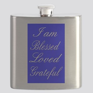 I am Blessed Loved Greatful Flask