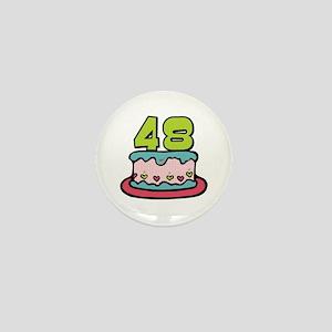 48th Birthday Cake Mini Button