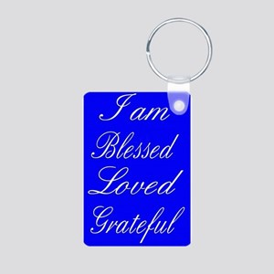 I am Blessed Loved Greatful Keychains