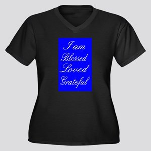 I am Blessed Loved Greatful Plus Size T-Shirt