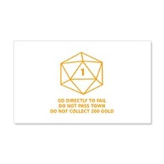 Go Directly To Fail Wall Decal