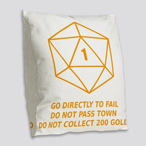 Go Directly To Fail Burlap Throw Pillow