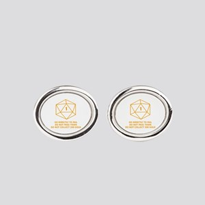 Go Directly To Fail Oval Cufflinks