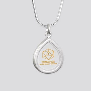 Go Directly To Fail Teardrop Necklaces