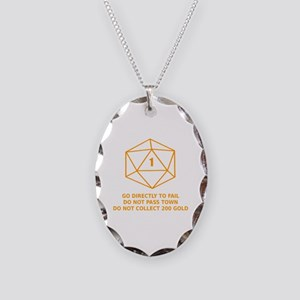Go Directly To Fail Necklace Oval Charm