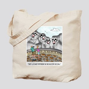 Mount Rushmore Cartoon 9360 Tote Bag