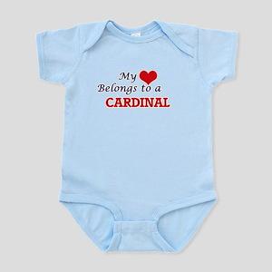 My heart belongs to a Cardinal Body Suit