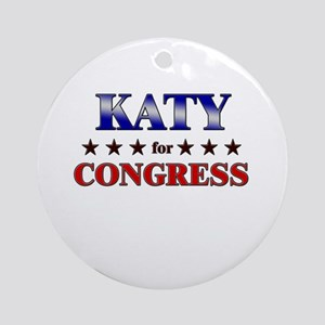 KATY for congress Ornament (Round)