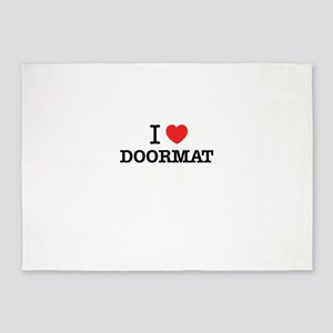 I Love DOORMAT 5'x7'Area Rug