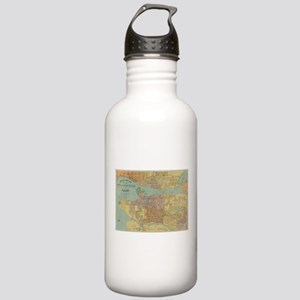 Vintage Map of Vancouv Stainless Water Bottle 1.0L