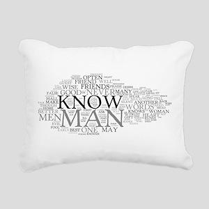 Havamal Word Cloud Rectangular Canvas Pillow