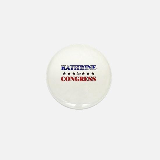 KATHRINE for congress Mini Button