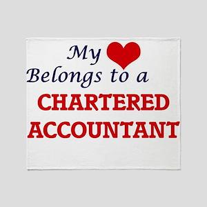 My heart belongs to a Chartered Acco Throw Blanket