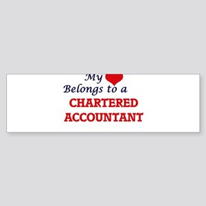 My heart belongs to a Chartered Acc Bumper Sticker