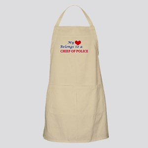 My heart belongs to a Chief Of Police Apron
