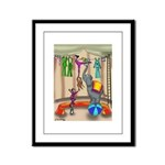 Hanging the Wash @ the Circus Framed Panel Print