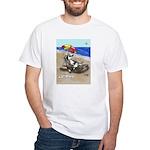 Free Range Sled Dog White T-Shirt
