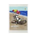 Free Range Sled Dog Rectangle Magnet (10 pack)