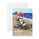 Free Range Sled Dog Greeting Cards (Pk of 10)