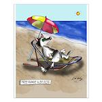 Free Range Sled Dog Small Poster