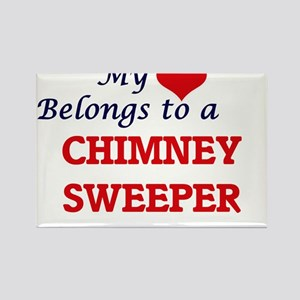 My heart belongs to a Chimney Sweeper Magnets