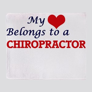 My heart belongs to a Chiropractor Throw Blanket