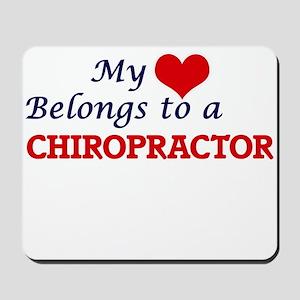 My heart belongs to a Chiropractor Mousepad