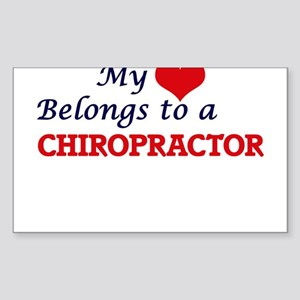 My heart belongs to a Chiropractor Sticker