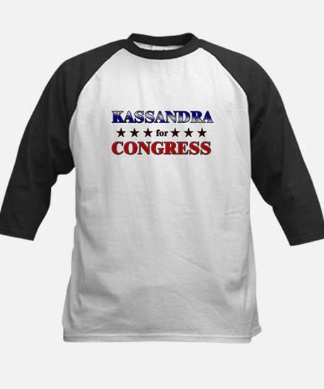 KASSANDRA for congress Kids Baseball Jersey