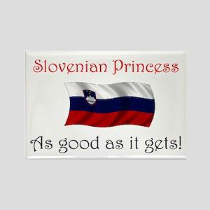 Slovenian Princess Rectangle Magnet