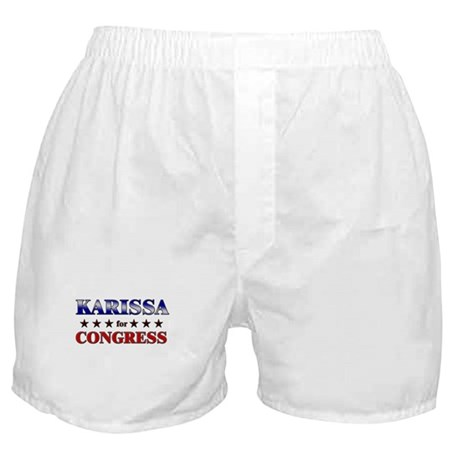 KARISSA for congress Boxer Shorts