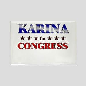 KARINA for congress Rectangle Magnet