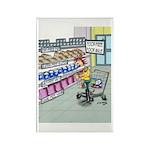 Food Free Food Aisle Rectangle Magnet