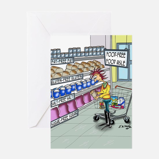 Food Free Food Aisle Greeting Card