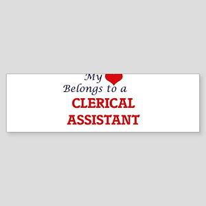 My heart belongs to a Clerical Assi Bumper Sticker