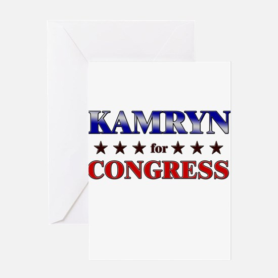 KAMRYN for congress Greeting Card