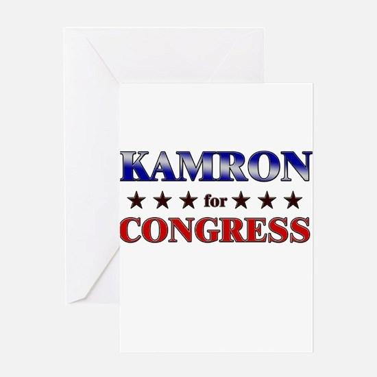 KAMRON for congress Greeting Card