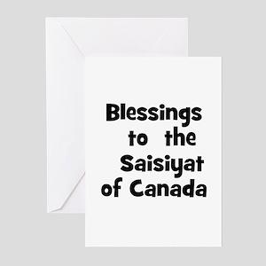 Blessings  to  the  Saisiyat  Greeting Cards (Pk o