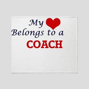 My heart belongs to a Coach Throw Blanket
