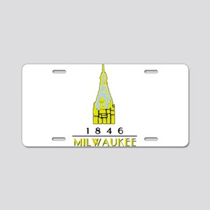 Milwaukee City Hall Logo- w Aluminum License Plate