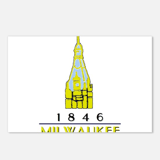 Milwaukee City Hall Logo- Postcards (Package of 8)