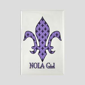 NOLA Girl Fleur de lis (purple) Rectangle Magnet