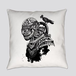 Steampunk Goblin with Bird Everyday Pillow