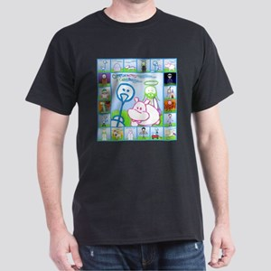 Ostrich, Hippo & Jesus on Grass Collage T-Shirt