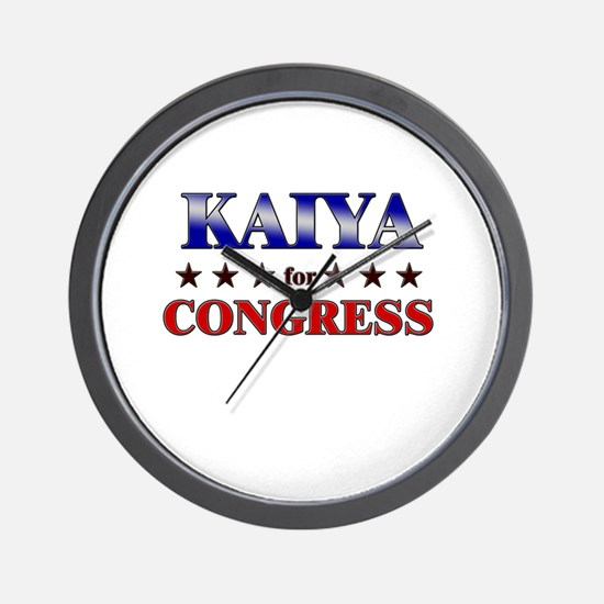 KAIYA for congress Wall Clock
