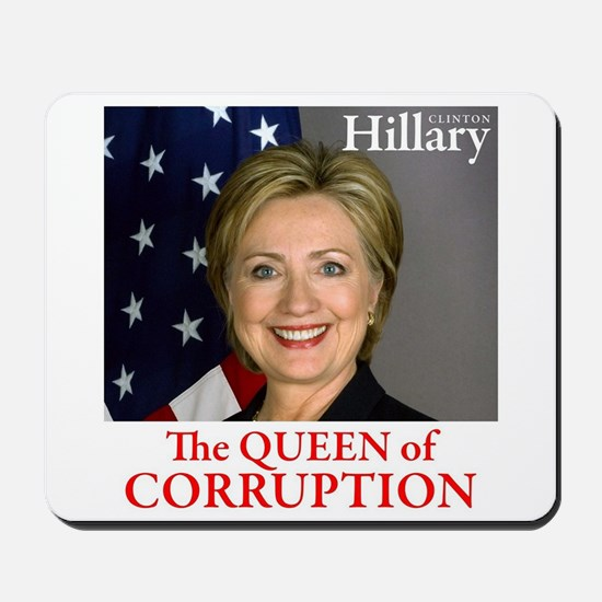HILLARY THE QUEEN Mousepad